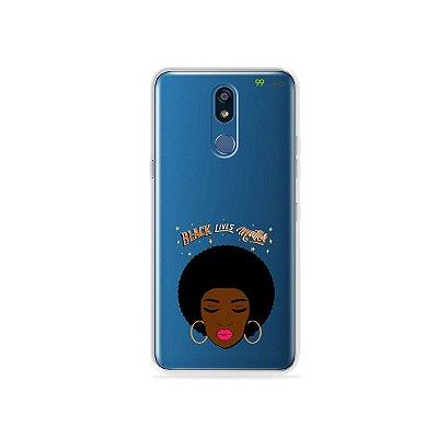 Capinha (transparente) para LG K12 - Black Lives