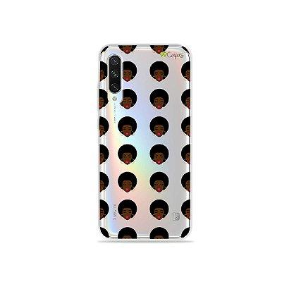 Capinha (transparente) para Xiaomi Mi A3 - Black Girl