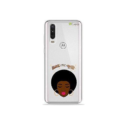 Capinha (transparente) para Moto One Action - Black Lives
