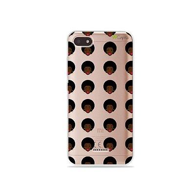 Capinha (transparente) para Xiaomi Redmi 6 - Black Girl