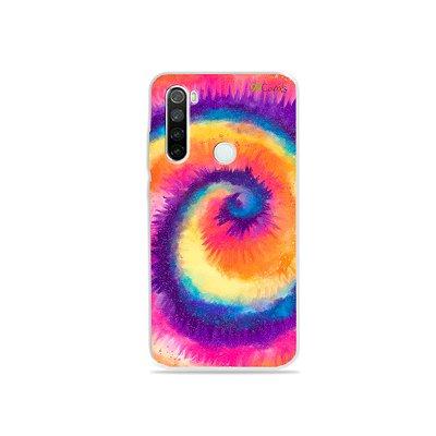 Capinha para Xiaomi Redmi Note 8 - Tie Dye Roxo