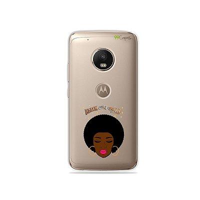 Capinha (transparente) para Moto G5 Plus - Black Live