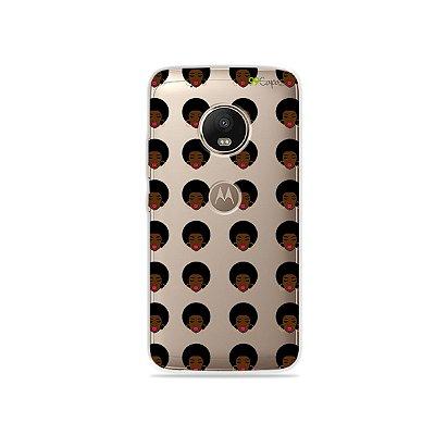 Capinha (transparente) para Moto G5 Plus - Black Girl
