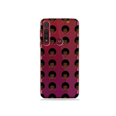 Capinha (transparente) para Moto G8 Play - Black Girl