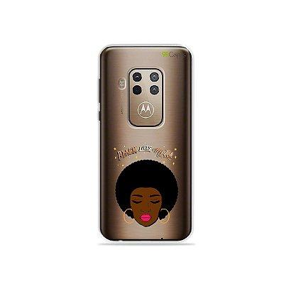 Capinha (transparente) para Moto One Zoom - Black Lives