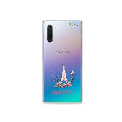 Capinha (transparente) para Galaxy Note 10 - Namastê