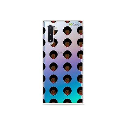 Capinha (transparente) para Galaxy Note 10 - Black Girl