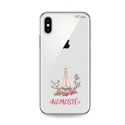 Capinha (transparente) para iPhone X/XS - Namastê