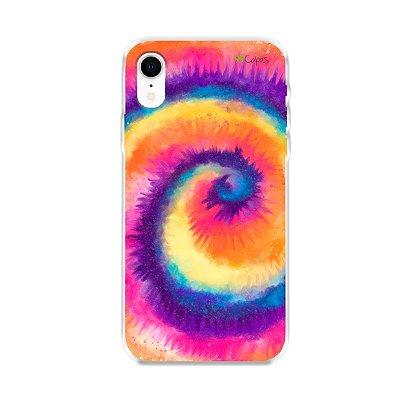 Capinha para iPhone XR - Tie Dye Roxo