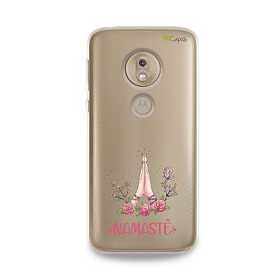 Capinha (transparente) para Moto G7 Play - Namastê