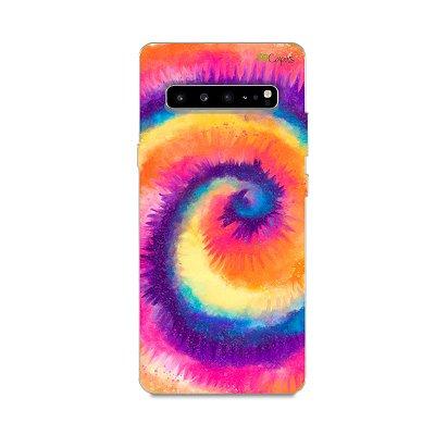 Capinha para Galaxy S10 - Tie Dye Roxo