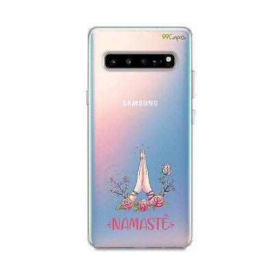 Capinha (transparente) para Galaxy S10 - Namastê