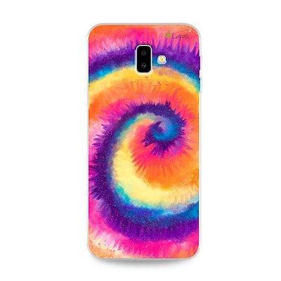 Capinha para Galaxy J6 Plus - Tie Dye Roxo