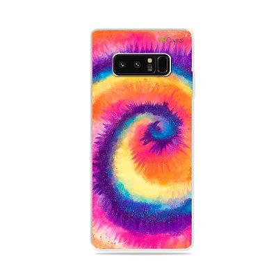 Capa para Galaxy Note 8 - Tie Dye Roxo