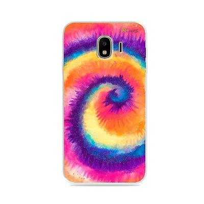 Capa para Galaxy J4 - Tie Dye Roxo