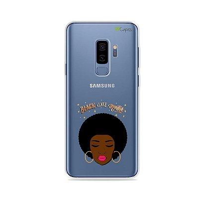 Capinha (transparente) para Galaxy S9 Plus - Black Lives