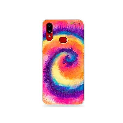 Capinha para Galaxy A10s - Tie Dye Roxo