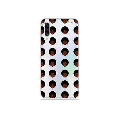 Capinha (transparente) para Galaxy A30s - Black Girl