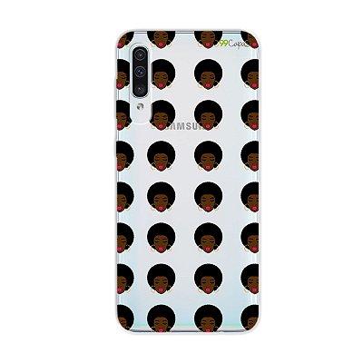 Capinha (transparente) para Galaxy A50s - Black Girl