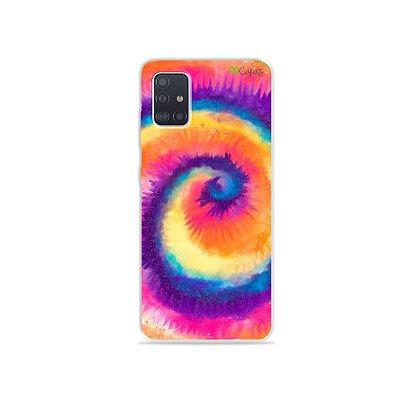 Capinha para Galaxy A51 - Tie Dye Roxo