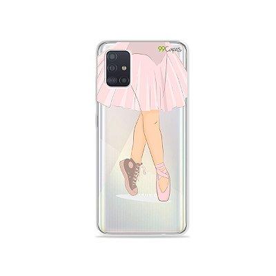 Capinha (transparente) para Galaxy A51 - Ballet