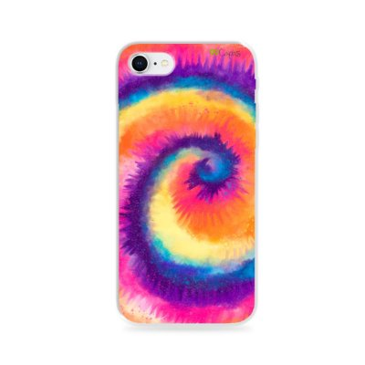 Capa para iPhone 8  - Tie Dye Roxo