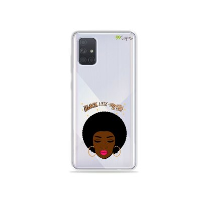 Capinha (transparente) para Galaxy A71 - Black Lives