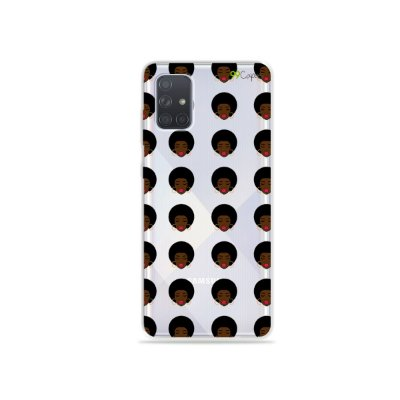 Capinha (transparente) para Galaxy A71 - Black Girl