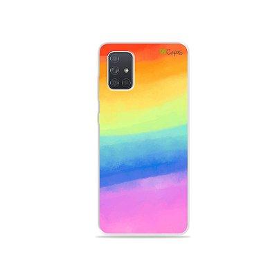 Capinha para Galaxy A71 - Rainbow