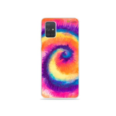 Capinha para Galaxy A71 - Tie Dye Roxo
