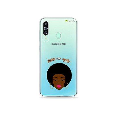 Capinha (transparente) para Galaxy M40 - Black Lives