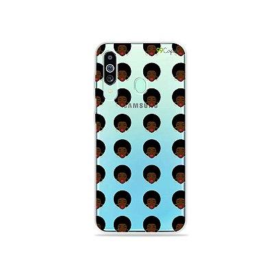 Capinha (transparente) para Galaxy M40 - Black Girl