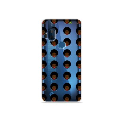 Capinha (transparente) para Moto One Hyper - Black Girl