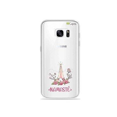 Capinha (transparente) para Galaxy S7 - Namastê