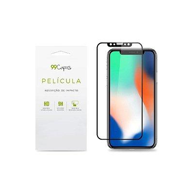 Película de Privacidade para iPhone XR (borda preta) - 99Capas