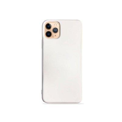 Silicone Case Branca para iPhone 11Pro (acompanha Pop Socket) - 99Capas
