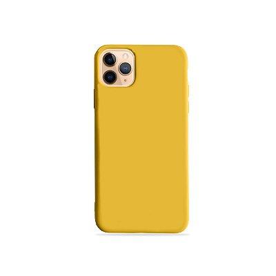 Silicone Case Amarela para iPhone 11Pro (acompanha Pop Socket) - 99Capas