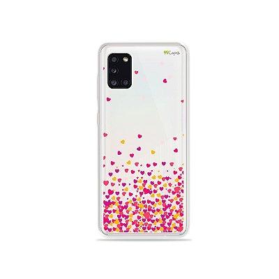 Capa Corações Rosa para Galaxy A31