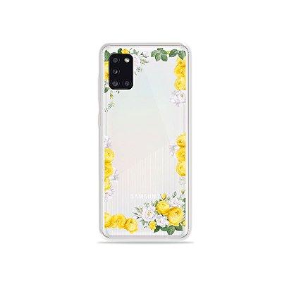 Capa Yellow Roses para Galaxy A31