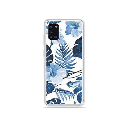 Capinha Flowers in Blue para Galaxy A31