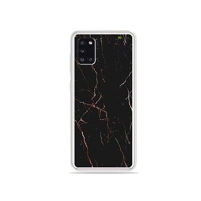 Capinha Marble Black para Galaxy A31