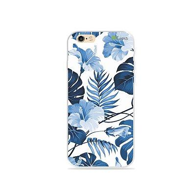 Capa para iPhone 6/6s - Flowers in Blue