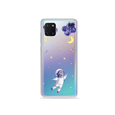 Capinha Astronauta Sonhador para Galaxy Note 10 Lite