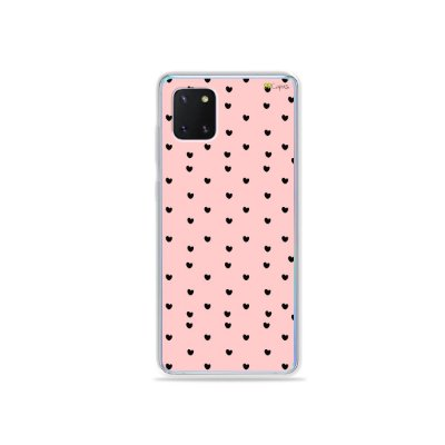 Capinha Corações Preto para Galaxy Note 10 Lite