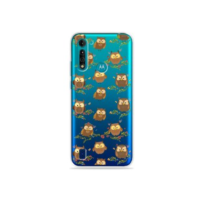 Capa (transparente) para Moto G8 Power Lite - Corujinhas
