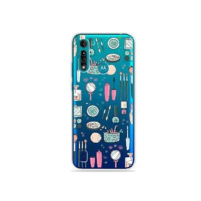 Capa (transparente) para Moto G8 Power Lite - Make Up
