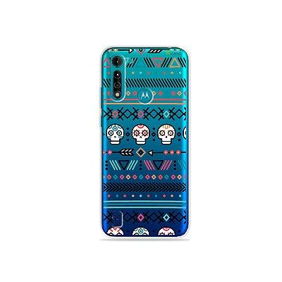 Capa (transparente) para Moto G8 Power Lite - Tribal