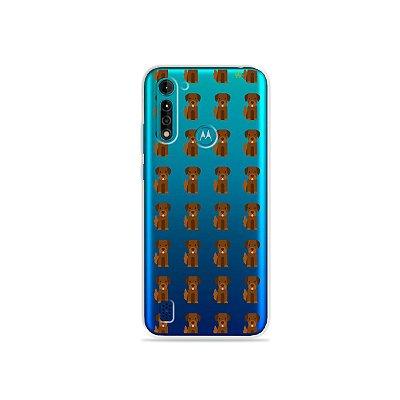 Capa (transparente) para Moto G8 Power Lite - Labrador