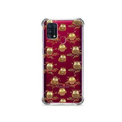 Capinha (transparente) para Galaxy M31 - Corujinhas