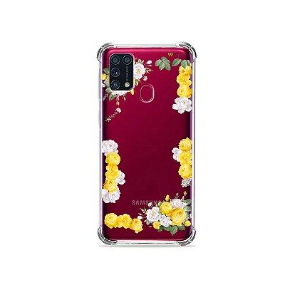 Capinha (transparente) para Galaxy M31 - Yellow Roses